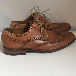 Cole Haan Brown leather wingtip shoe Size 10